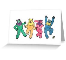 Grateful Dead dancing Ewoks Greeting Card
