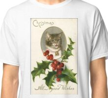 Christmas cat  Classic T-Shirt