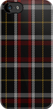 00065 Black Clan Tartan Fabric Print Iphone Case by Detnecs2013
