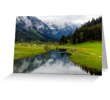 Spring meets winter in the Alps Greeting Card