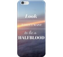 Look, I didn't want to be a Halfblood- Percy Jackson- Purple Sky iPhone Case/Skin