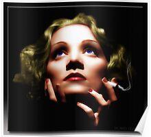 Marlene Dietrich in Oil Poster
