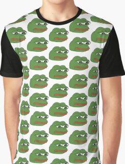 funny sad frog meme xDDDD Graphic T-Shirt