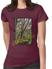 Gum tree in grunge Womens Fitted T-Shirt