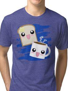 Kawaii Toast N Coffee Tri-blend T-Shirt