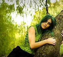 Nicole in the tree by Ashleia Hoskin