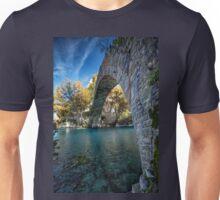 Traditional old stone bridge in Konitsa, northern Greece Unisex T-Shirt