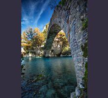 Traditional old stone bridge in Konitsa, northern Greece T-Shirt
