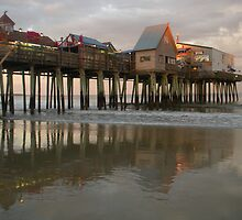 Evening at the Pier by Connie Thomase