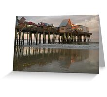 Evening at the Pier Greeting Card