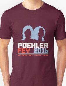 Poehler Fey 2016 funny nerd geek geeky Unisex T-Shirt