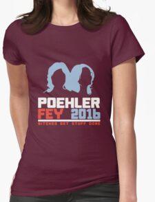 Poehler Fey 2016 funny nerd geek geeky Womens Fitted T-Shirt