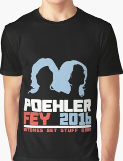Poehler Fey 2016 funny nerd geek geeky Graphic T-Shirt