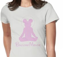 buddha mouse Womens Fitted T-Shirt