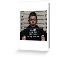 Supernatural - Dean Winchester Mugshot Greeting Card