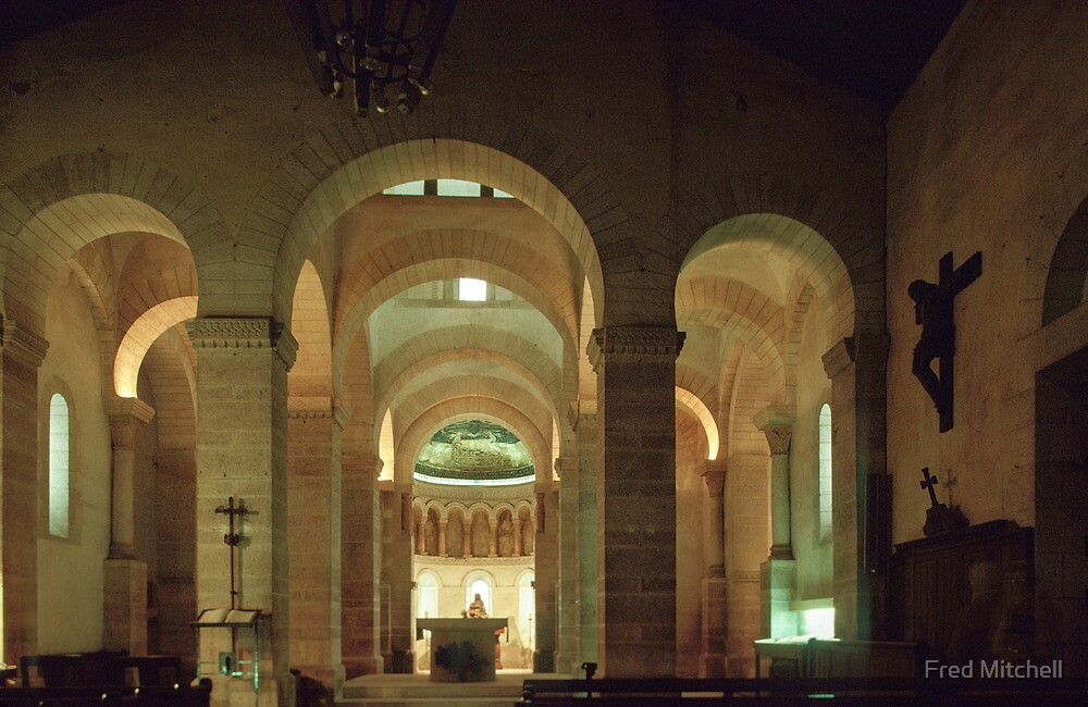 Nave and apse of St Germigny de Pres 19840224 0004  by Fred Mitchell