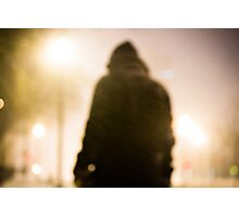 Lone Snowy Night Photographic Print
