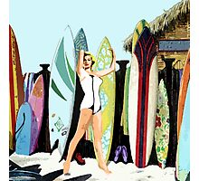 Surfer Pin Up Girl Photographic Print