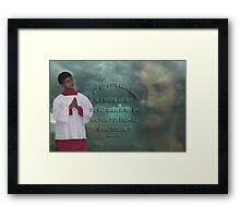 *•.¸♥♥¸.•*IF WE CONFESS BIBLICAL*•.¸♥♥¸.•* Framed Print