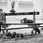 Boys and Pigeons - Paris by Andrew & Mariya  Rovenko