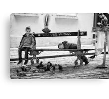 Boys and Pigeons - Paris Canvas Print