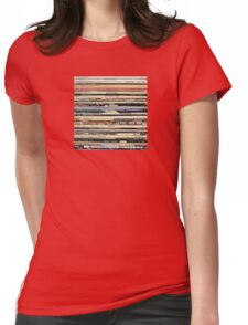 Vinyl Record Collector   Womens Fitted T-Shirt