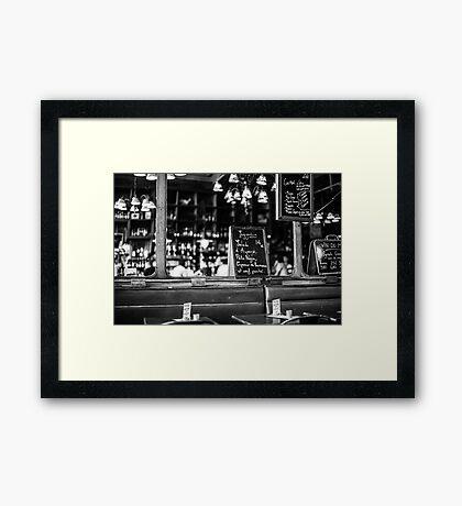 Cafe interior - Paris Framed Print