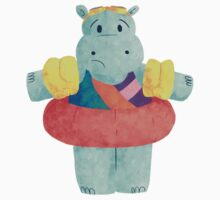 Nervous Beachy Hippo One Piece - Short Sleeve