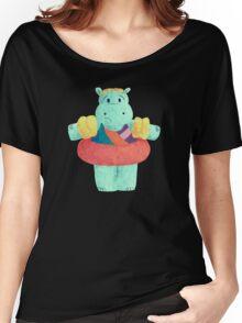 Nervous Beachy Hippo Women's Relaxed Fit T-Shirt