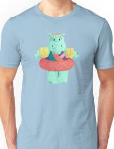 Nervous Beachy Hippo Unisex T-Shirt