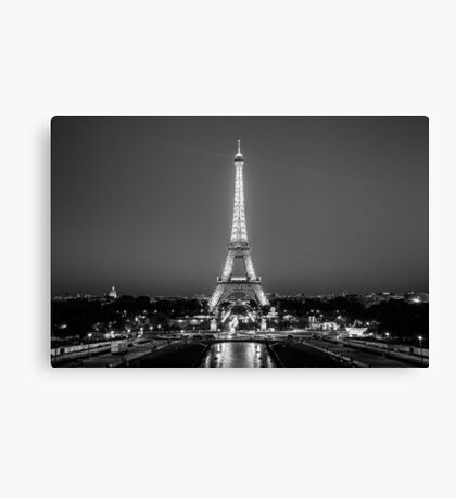 Eiffel Tower in Black & White Canvas Print