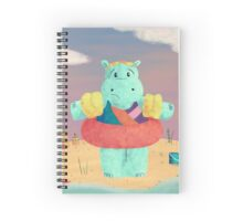Nervous Beachy Hippo Spiral Notebook