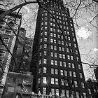 Bryant Park in black in white by ArtLandscape