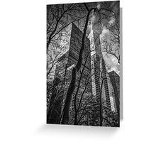 NYC in black and white Greeting Card
