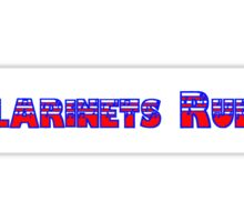 Clarinets Rule Red White & Blue  Sticker
