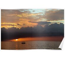Negril Beach Sunset Poster