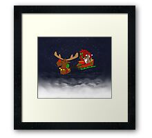 Moose and Trickster wish you a Happy Holidays! Framed Print