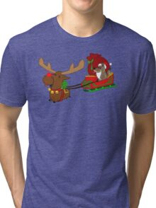 Moose and Trickster wish you a Happy Holidays! Tri-blend T-Shirt