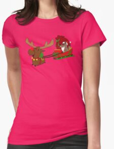 Moose and Trickster wish you a Happy Holidays! Womens Fitted T-Shirt