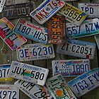 License Plates on a Building by TCbyT