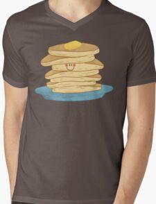 Happy Pancake Breakfast Mens V-Neck T-Shirt