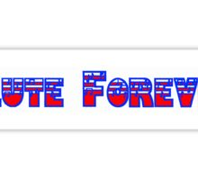 Flute Forever Red White & Blue Sticker