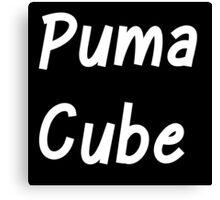 Puma Cube (White Letters) Canvas Print