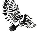 Raven Crow Shaman tribal tattoo design by SFDesignstudio