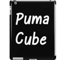 Puma Cube (White Letters) iPad Case/Skin