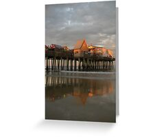 Pier Reflections at Sunset Greeting Card