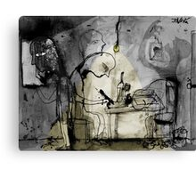 a day in the life of a poet Canvas Print