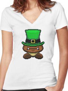 IRISH GOOMBA Women's Fitted V-Neck T-Shirt