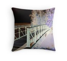 Bridge To The Island, Franklin Pond - Inverted Throw Pillow