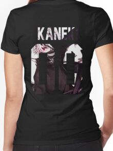 Tokyo Ghoul : Ken Kaneki 00 Women's Fitted V-Neck T-Shirt